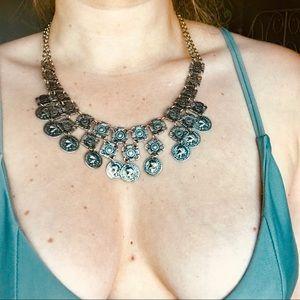 Jewelry - Beautiful silver boho statement necklace